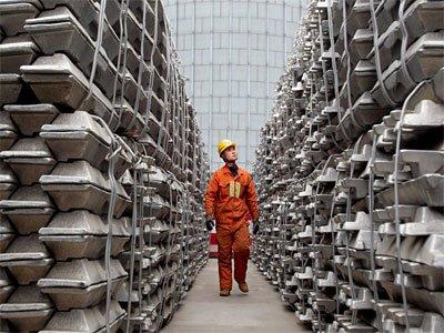 کاهش موجودی آلومینیوم چین