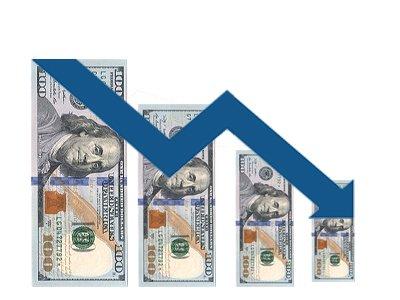 دلار در سرازیری سقوط